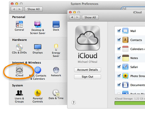 how to make an icloud account primary