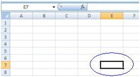 cell in ms excel