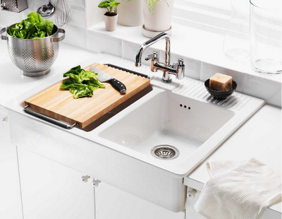Ikea gingham pearls Farmhouse sink ikea