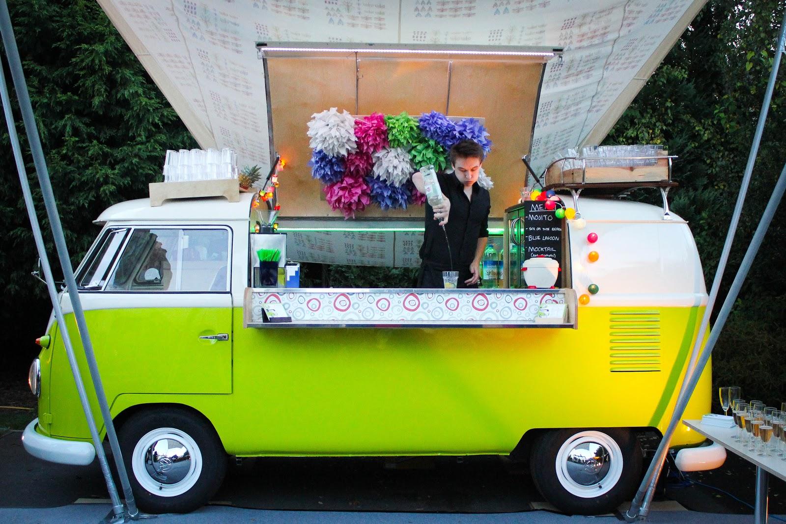THE WEDDING BLOG DESIGNER THE VW CAMPER VAN COCKTAIL BAR