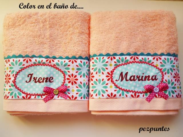 Pezpuntes toallas personalizadas para el ba o de - Toallas infantiles personalizadas ...