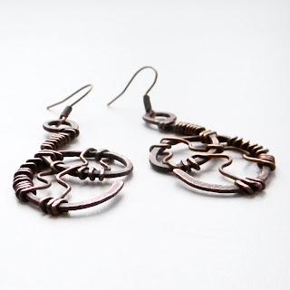купить медные украшения сережки из меди металла