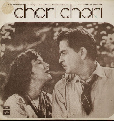 Poster Of Bollywood Movie Chori Chori (1956) 300MB Compressed Small Size Pc Movie Free Download exp3rto.com