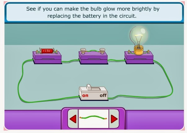 Electricity circuits game