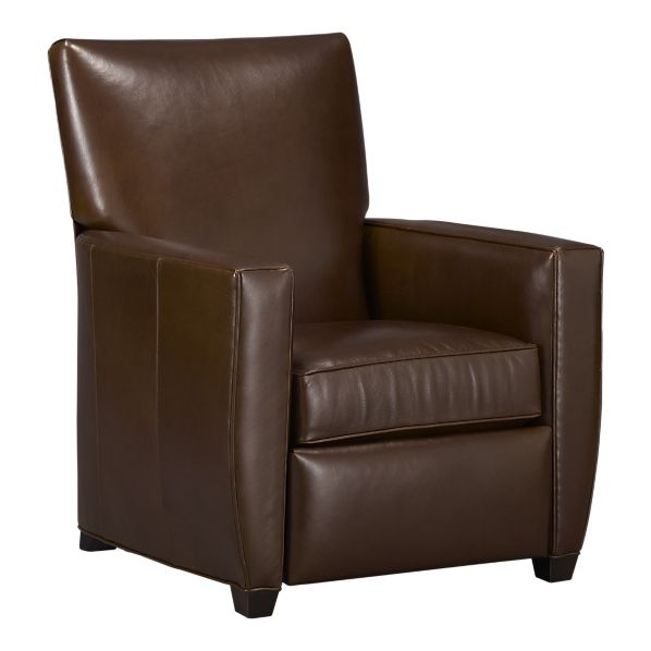 Copy Cat Chic Crate And Barrel Streeter Leather Recliner