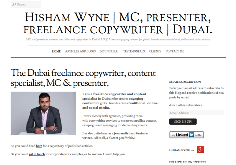 leading MC and copywriter in Dubai