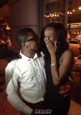 dotun+coolfm+proposes+to+dbanj%27s+sister+lindaikejiblog Cool FM Presenter Dotun proposes to Dbanjs younger sister, Taiwo
