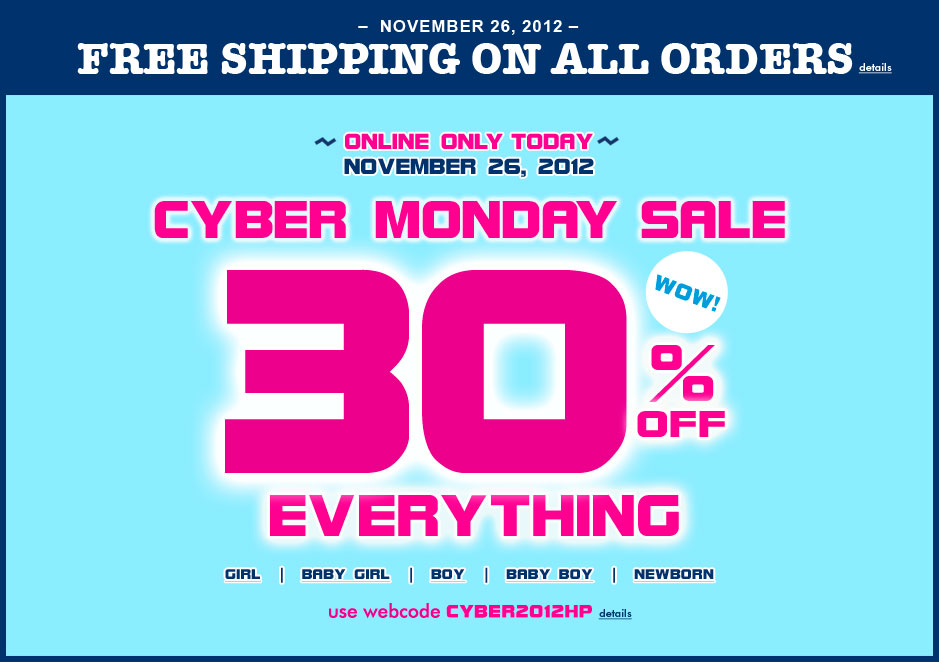 Cyber monday online coupons