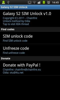 Samsung Galaxy S2 SIM Unlock code finder