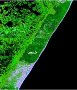 foto satelital de Cariló