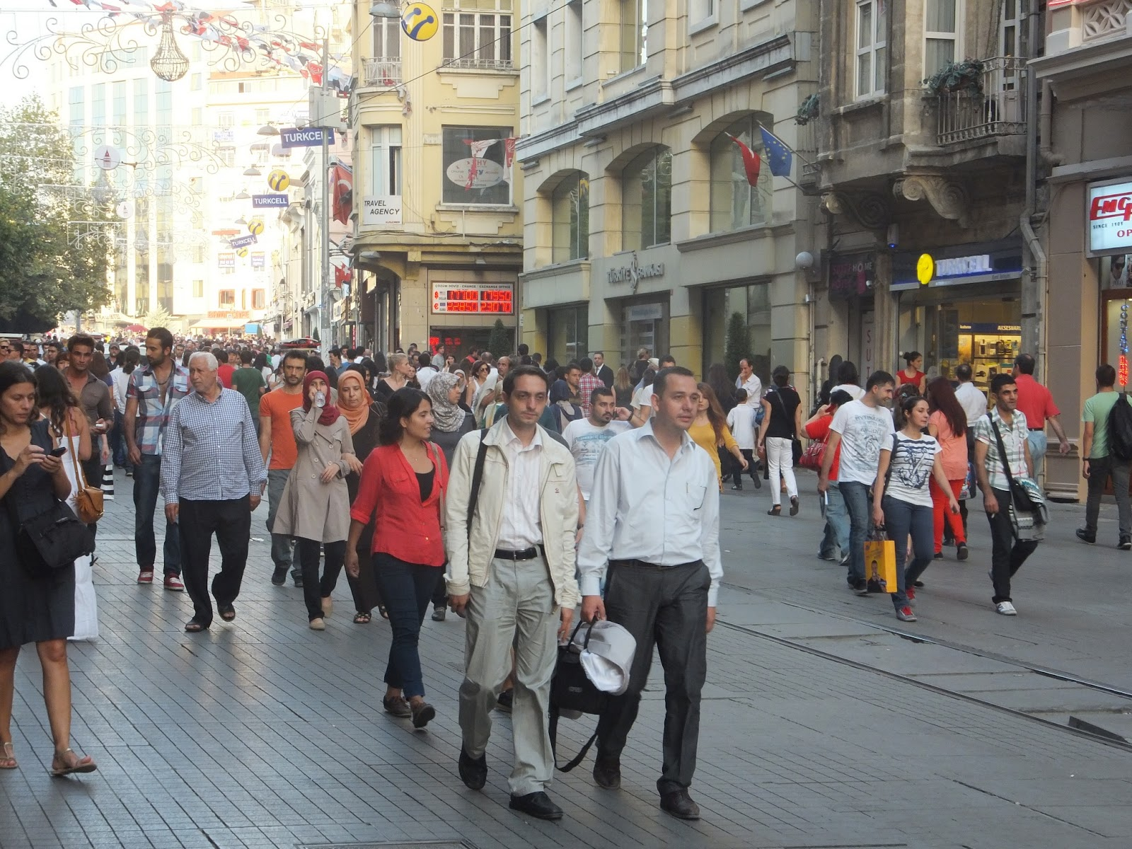 Таксим - пешеходная зона