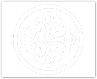 emblem free hand embroidery pattern