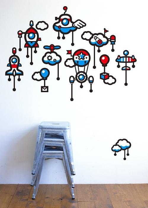 Decora y disena 10 ideas para decorar las paredes con for Adhesivos decorativos