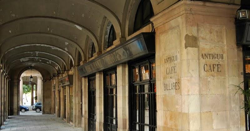 Painted signs and mosaics antiguo caf y billares barcelona - Restaurante 7 puertas barcelona ...