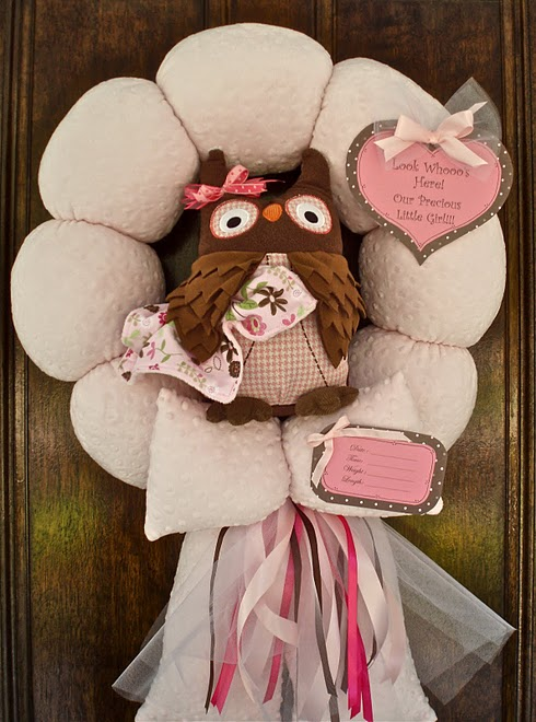 30. Pink Owl Wreath