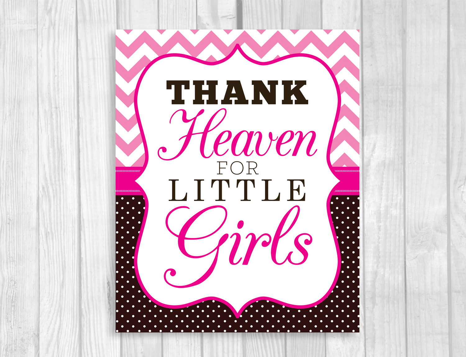 Weddings By Susan Printable Baby Shower Signs Hot Pink Chevron
