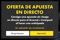 Apuesta sin riesgo Arsenal vs Liverpool hoy 24 agosto 2015