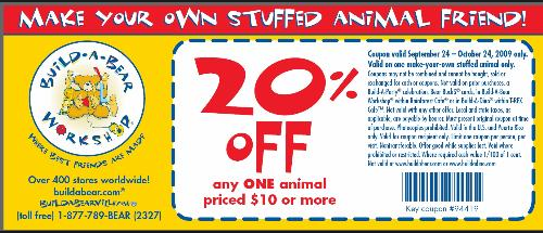 image about Build a Bear Coupons Printable known as Establish A Go through Printable Coupon codes August 2015