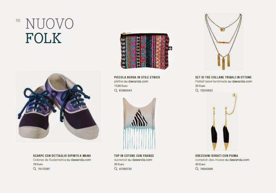 "A page dedicated to the ""New Folk"" trend, from DaWanda Lovebook Summer 2015, with the set of 3 layered necklaces by PetiteFraise Handmade"