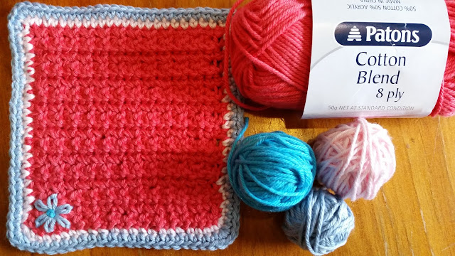 cotton crochet drink coaster