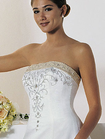The Alfred Angelo 1516 With Red Trim