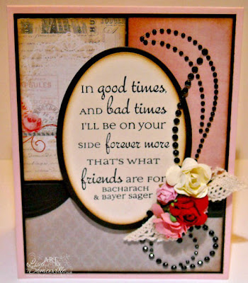 Stamps - Our Daily Bread Desings Friends.  MME Ruby Pattern Paper, Zva Creative Embellishments