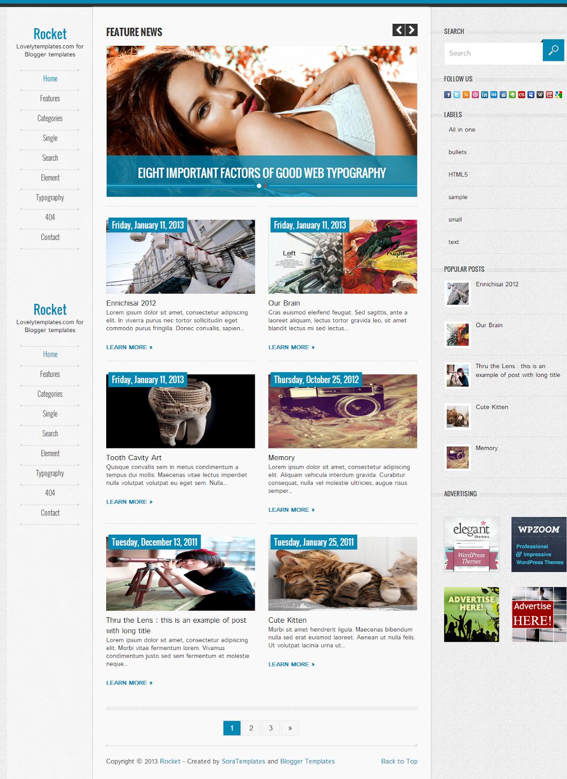 Blogger Rocket Blog Teması