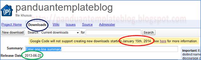 Google Code Tidak Menyediakan Layanan Download Project Hosting
