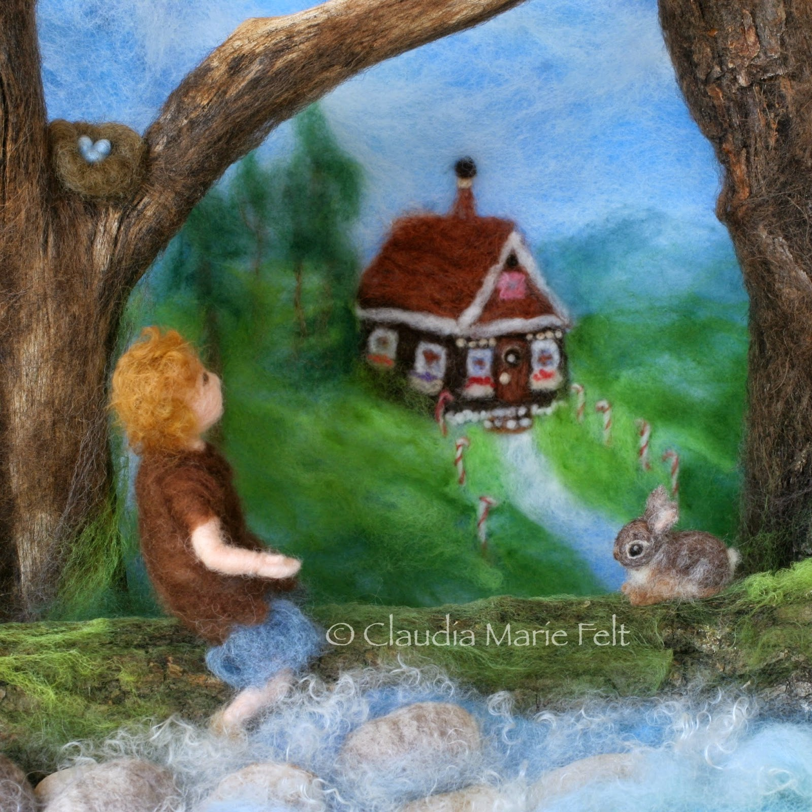 Needle Felt Book Illustration by Claudia Marie Felt