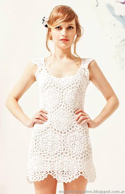 Vestidos 2014 moda tejidos Florencia Llombart