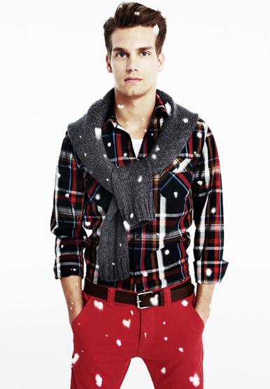 ropa hombre Blanco colección Navidad 2011