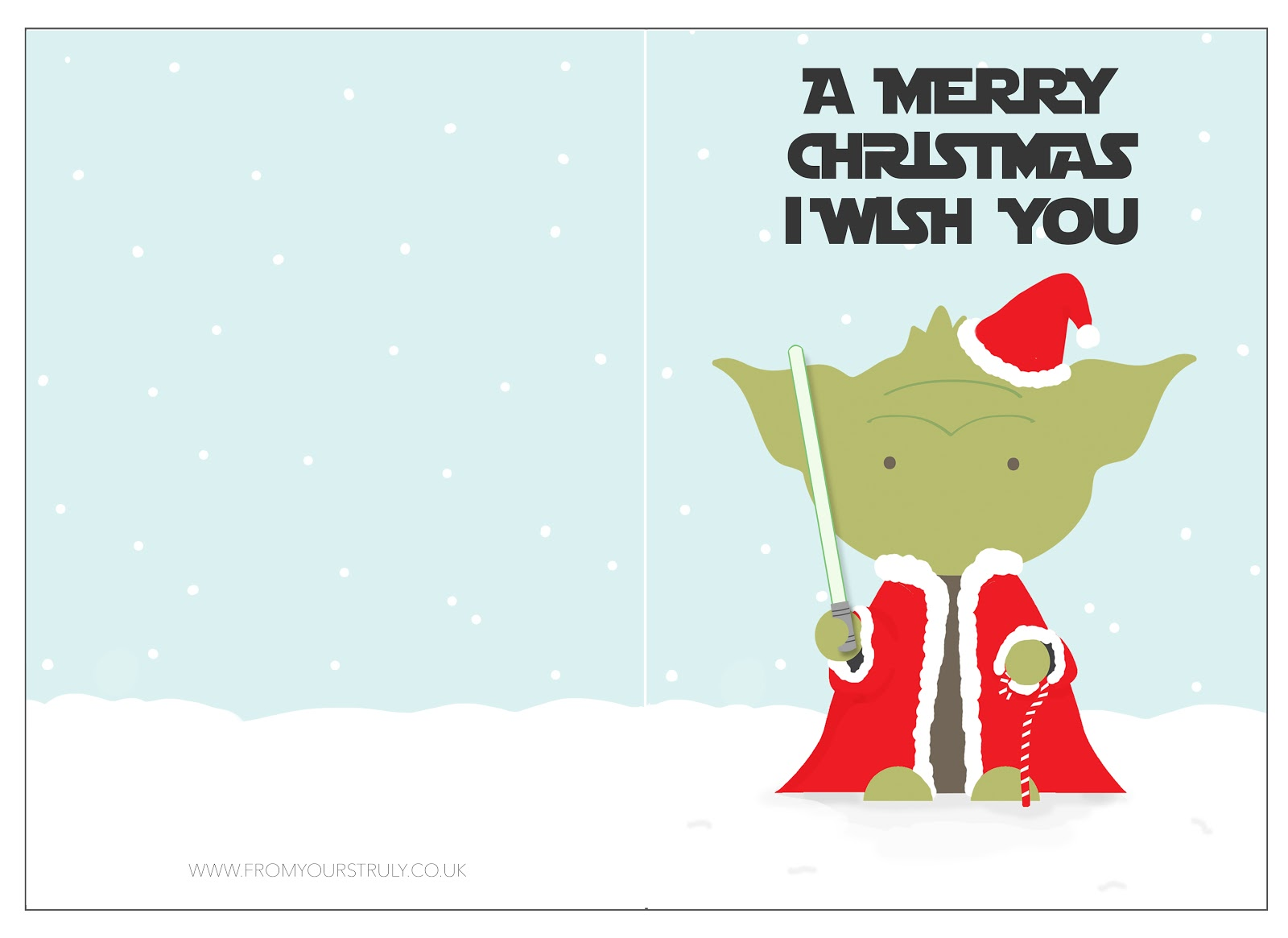 star wars i have a special christmas card for you i have designed just download print the image below on a4 card cut and fold and ta dah - Star Wars Christmas Card