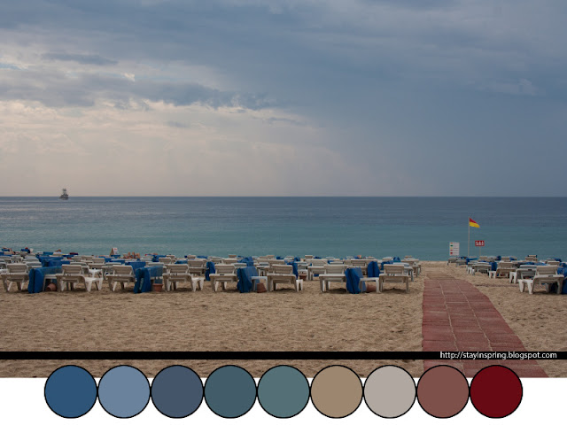 Colour palette mediterranean