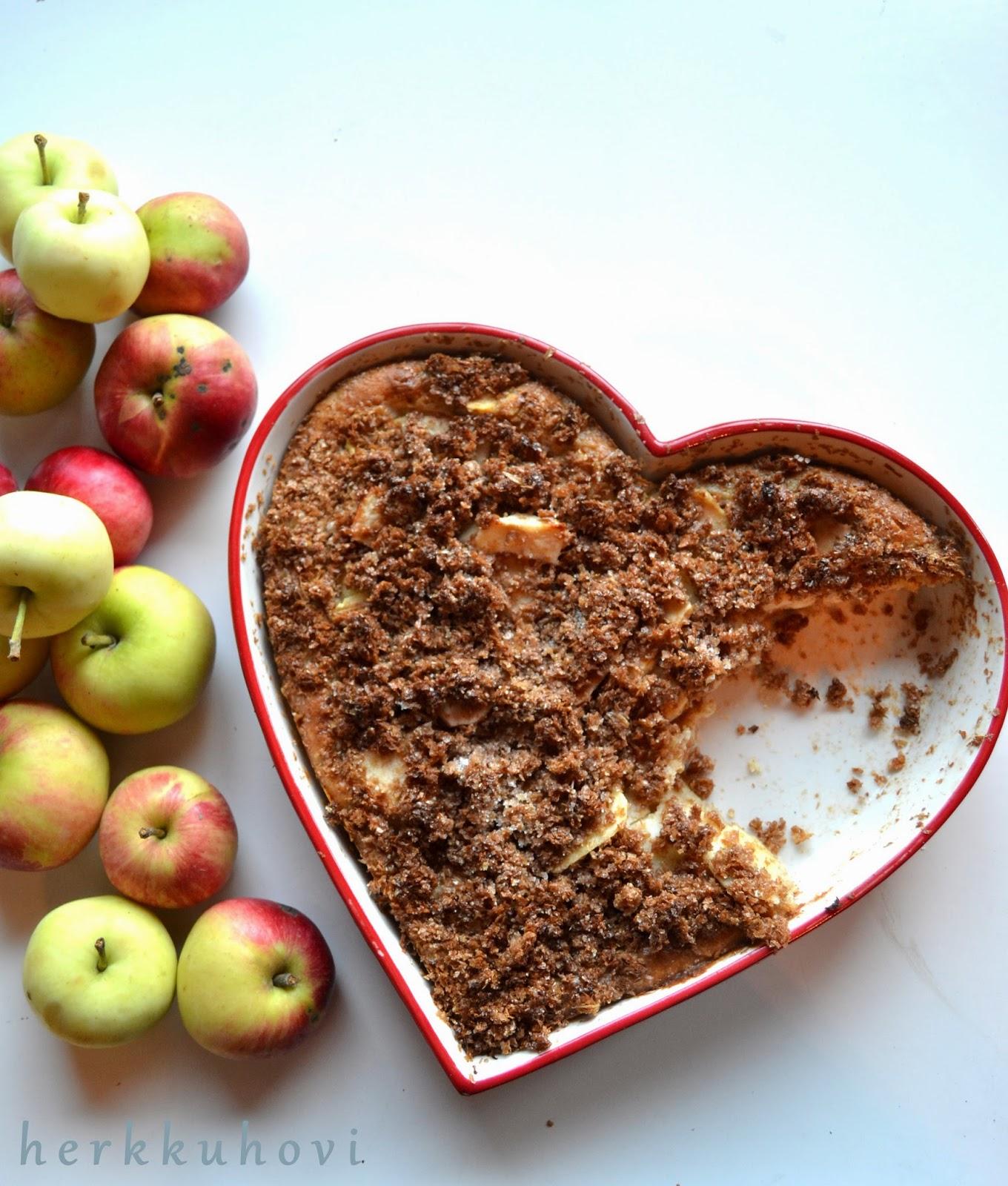 Rouheva omenapiirakka