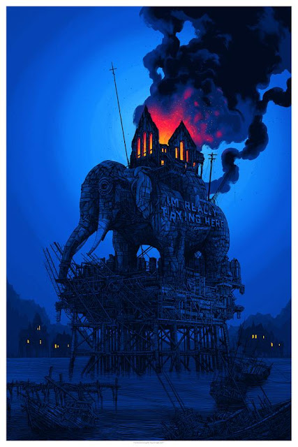 "MondoCon Exclusive ""I've Been Believing This Ship Will Right Itself"" Screen Print by Daniel Danger"