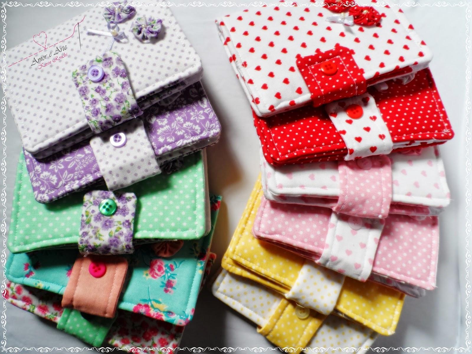 Carteiras em tecido
