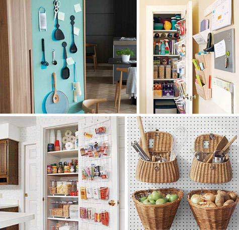 small kitchen storage ideas via