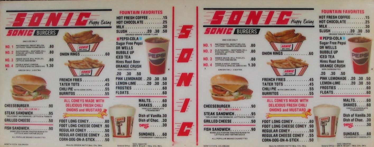 sonic drive-in food menu