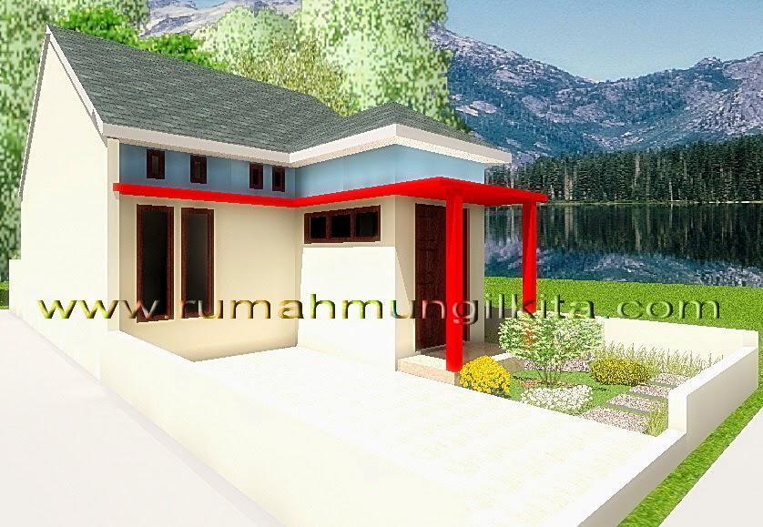 renovasi rumah dengan lebar 6 meter - tampak samping kiri