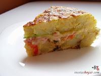 Tortilla española rellena - Final