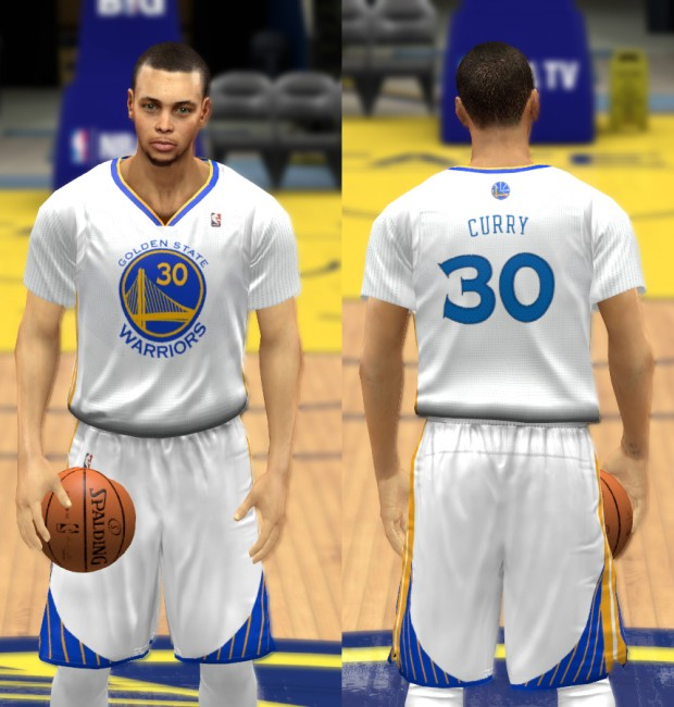 Warriors Alternate Sleeved 2013-2014 Jersey