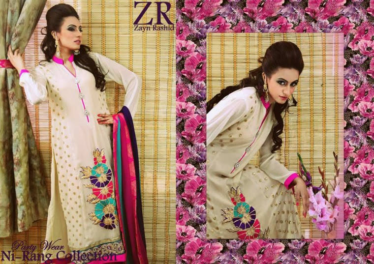 Latest Party Wear Spring 2014 Collection By Zayn Rashid-04