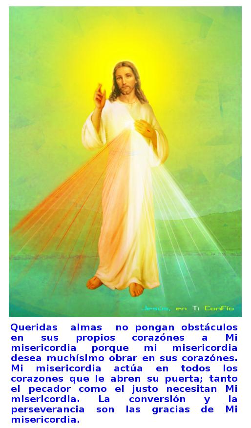 imagen de la divina misericordia con mensaje
