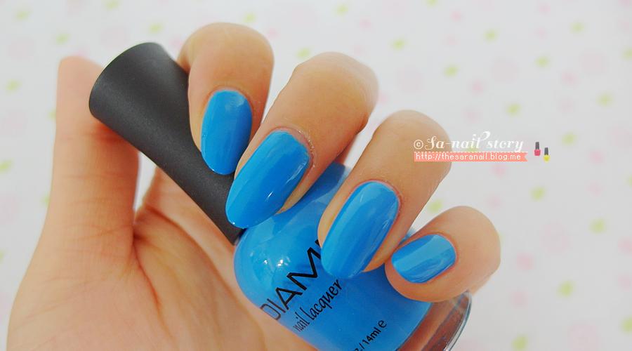 SARA NAIL: DIAMI nail lacquer,Blue color nail lacquer, Blue Nail ...