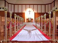 協会のバージンロード | ジューンブライド結婚式のイラスト・画像素材