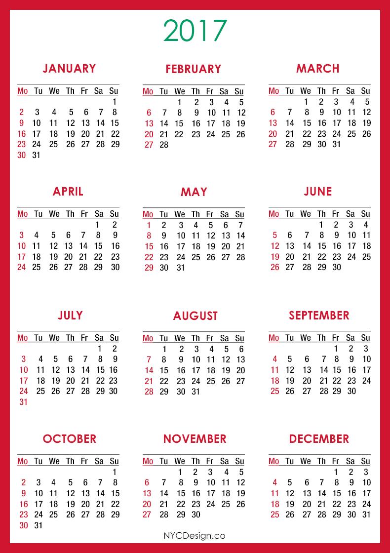 Calendar Red : New york web design studio ny calendar