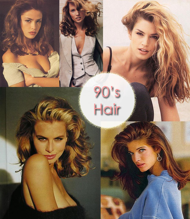 90's hair inspiration, 90s Supermodels