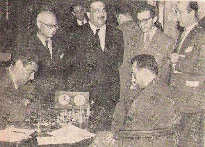 Partida Lladó-Torán en el XVIII Campeonato de España de Ajedrez 1957