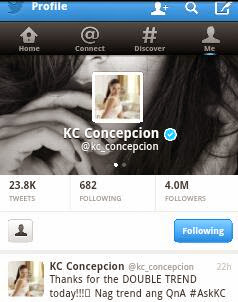 KC Concepcion Twitter