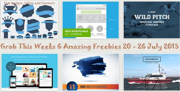 Grab this Weeks Freebies on Creative Market